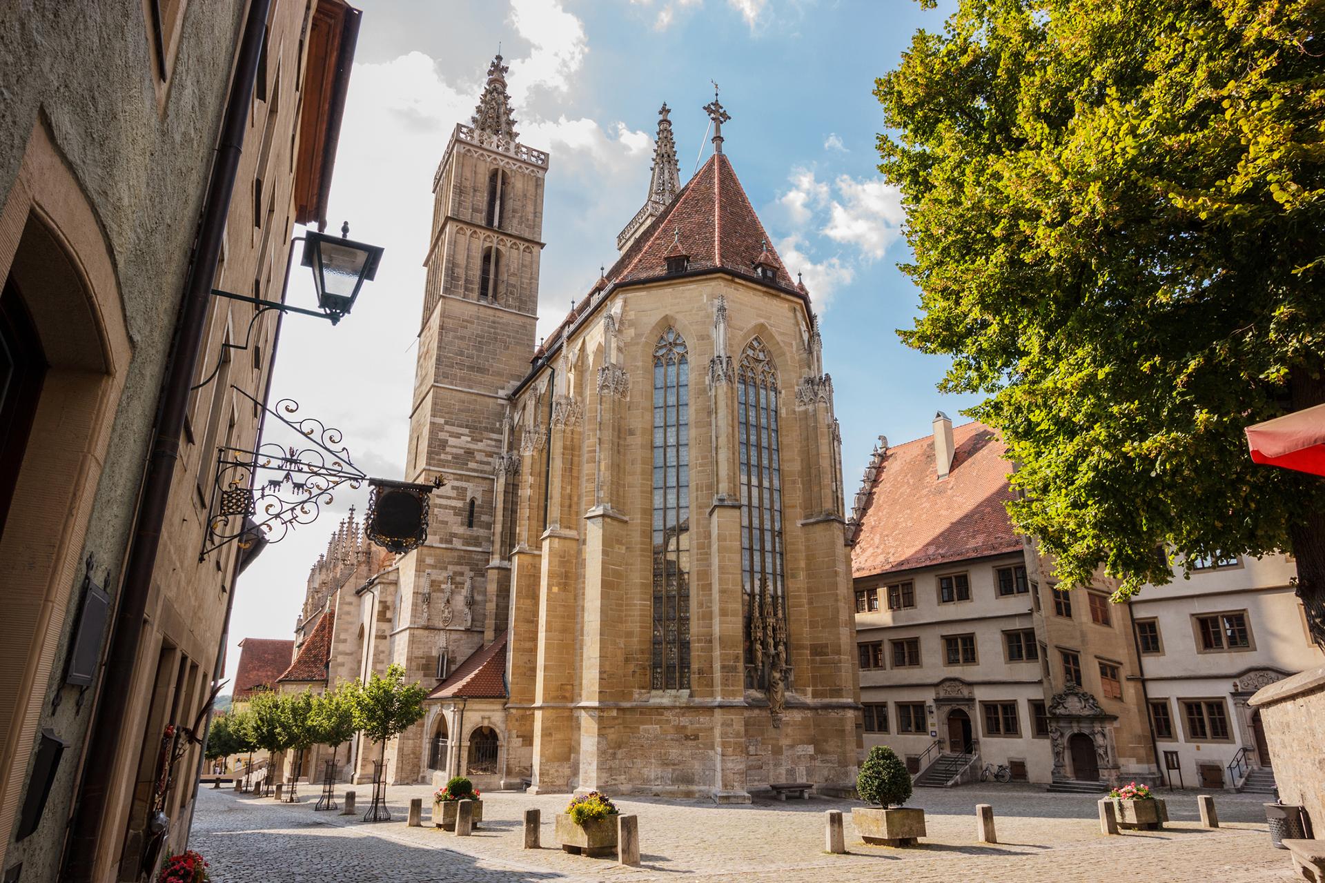 Die evangelisch-lutherische Stadtpfarrkirche St. Jakob in Rothenburg ob der Tauber